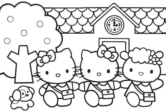 Бренд Hello Kitty - раскраска для малышей