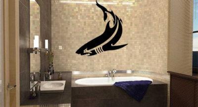 Креативные наклейки для декора ванной